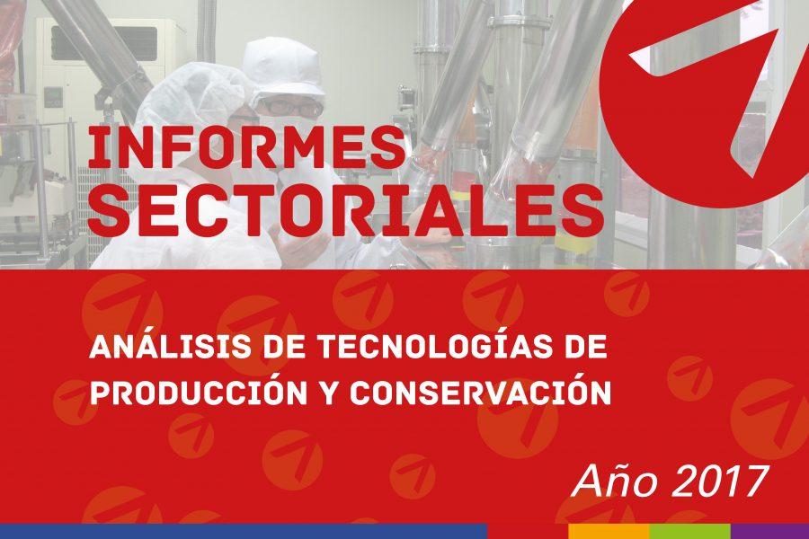 Análisis de tecnologías de producción y conservación